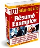 Order Michelle's 101 Resume Example e-Book NOW...
