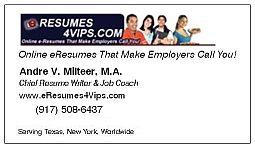 eResumes4Vips Chief Resume Writer