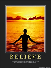 BELIEVE powered by Art dotcom