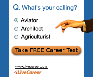 What's Your calling, powered by LiveCareer
