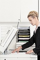 Woman at Copier